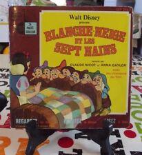 Walt Disney Petit Ménestrel 1980 Blanche-Neige et les sept Nains par Anna Gaylor