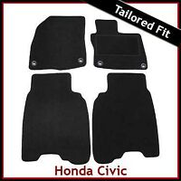 HONDA CIVIC Mk8 Facelift 2009-2011 4-eyelets Tailored Carpet Floor Mats BLACK
