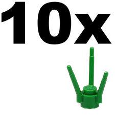 NEW LEGO - PLANTS - Plant Flower Stem Green x 10 - Round with three stems