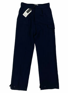 NEW Lacoste Runway Collection Interlock Wool Dark Blue Pants Mens Size 30 NWT