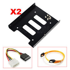"2pcs/lot 2.5"" to 3.5"" Bay SSD Metal Hard Drive HDD Mounting Bracket Adapter Tray"
