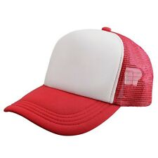 New Plain Baseball Cap Solid Trucker Mesh Blank Curved Visor Hat Adjustable Sale