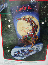 Dimensions Cross Stitch Stocking Kit Here Comes Santa Christmas 8492