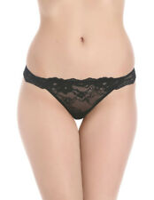 NEW Pleasure State 'OMB' Lace Thong P37-4053F Black