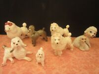 Miniature Animal Figurine Lot-Dogs-7 Poodles-Hagen Renaker-Other-Bone China-Etc