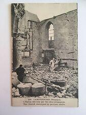 cpa 8600 Lampernisse L'Eglise détruite par les obus allemands belgique