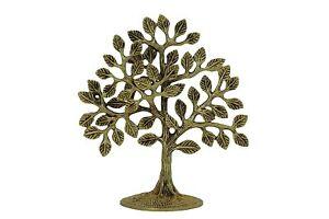 Handicrafts BHARAT HAAT Brass Kalpavriksha Tree Yellow color gifting during