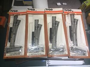 4 Tyco Track Brass Manual Right Hand Switches Never Used