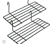 """Set Of 2 Grid Wall Wire Shelves 10"""""""