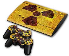 PS3 PlayStation 3 Super Slim Skin Design Aufkleber Schutzfolie Set - Nuclear