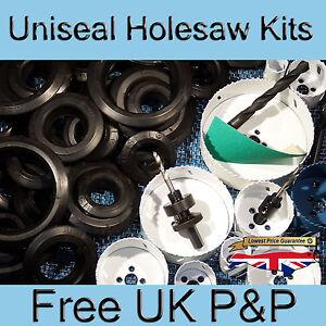Uniseal Holesaw Kits, Hydroponic Grommet Kits, Bulkhead Tank Connector, Koi pond