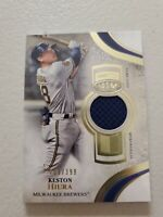 Keston Hiura 2021 Topps Tier One Game Used Jersey Relic 293/399 - Brewers