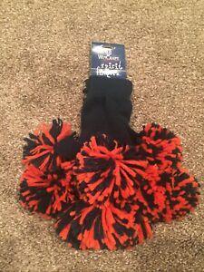 Spirit Fingerz Pom Pom Gloves NFL Cheerleader Navy Blue And Orange FREE SHIPPING