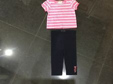"""Juicy Couture New & Gen. Baby Girls Cotton Two Piece With """"JC"""" Logo 6/12 MTHS"""