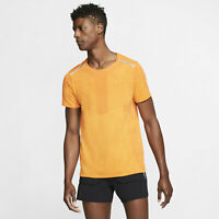 Mens Nike Tech Seamless SS Top Sz M Starfish/Kumquat BV5623-847 FREE SHIPPING