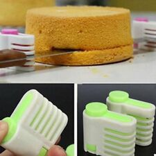 5 Layers Home Cake Pie Slicer Sheet Guide Cutter Server Bread Slice Knife QK