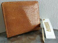 Aimee Kestenberg Womens Tuscany CC Wallet Bifold Genuine Leather Vachetta Python