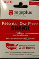 Pageplus SIM card with New activation/port & $55 Totally Unlimited Plan