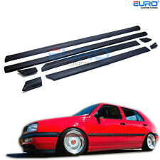 Euro specTextured Black Door Moulding Trim for VW Golf MK3 Jetta Vento 4Dr 93-97