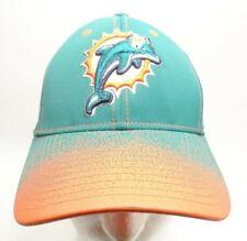 NFL Miami Dolphins Hat Reebox NFL Onfield FlexFit L / XL Aqua Baseball Hat