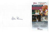 YANKEES Don Larsen signed 3x5 index card JSA COA AUTO Autographed New York 1956