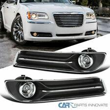 For Chrysler 11-14 300 Clear Projector Fog Driving Bumper Lights w/ Switch+Bezel