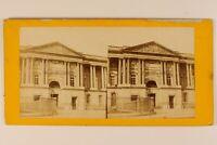 Parigi Francia Museo Del Louvre Façade Insegna c1870 Foto - Albumina Vintage