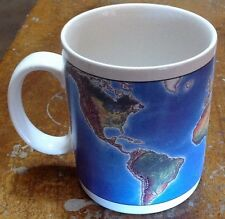 Earth Mug Coffee Cup Topographical Map Planet Science Cartography Travel