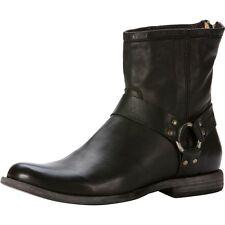 FRYE Boots Phillip Harness Black Soft Leather 87870 Men's Size 11 MSRP $318