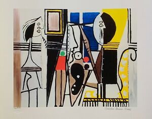 Pablo Picasso PAINTER IN THE STUDIO Estate Signed Limited Edition Large Giclee