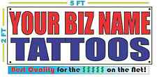 CUSTOM NAME TATTOOS YBN Banner Sign NEW Larger Size Best Quality for the $$$