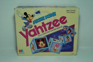 Vintage Disney Mickey Mouse Yahtzee Game 1988