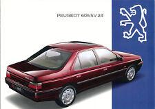 Peugeot - 605 - SV 24 - Prospekt - 1994 - Deutsch - nl-Versandhandel