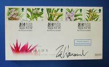 ROYAL Mail 1993 ORCHIDEE FDC firmato da Zoe Wanamaker: nessun 4/10 fatto solo