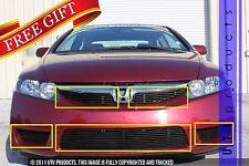 GTG 2009 - 2011 Honda Civic 4dr 5PC Gloss Black Overlay Combo Billet Grille Kit