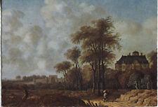 Vecchia cartolina Arte-Anthony Van CROOS-Paesaggio con il Huis ten Bosch