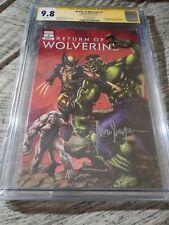 Return Of Wolverine 1 Mico Suayan Variant CGC SS 9.8
