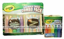 CRAYOLA* 11pc Set SIDEWALK CHALK+TIN CONTAINER Great For Kids OUTDOOR FUN New!