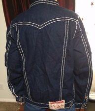 True Religion Men's Jacket Size XL Dark Wash (Joey Super T) Great Used Shape!