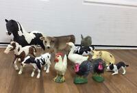 SCHLEICH and ELC AAA Bundle Farm Animals x 12