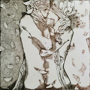 IVAN RUSACHEK, Art Print, Original Hand Signed Etching, Ex Libris Bookplate,2009