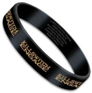 KILLSWITCH ENGAGE Logo Rubber Bracelet Wristband Rock Official Merchandise