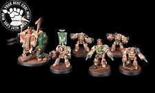Warhammer 40K Space Marine Dark Angels, Elite Group, 6 minis, PRO PAINTED