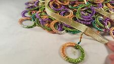 """3""""- 1 meter Beautiful colourful rings fringe lace trimming for crafting decor"""