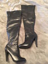 Colin Stuart Thigh High OTK Black Leather Boots 8