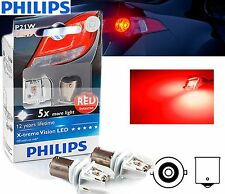 Philips P21W LED Xtreme Vision Red stop and tail signaling light BA15s 2pc kit