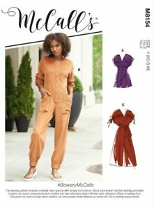 McCall's SEWING PATTERN M8154 Misses' Rompers,Jumpsuits & Belt XS-M Or L-XXL
