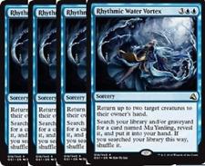 4X Rhythmic Water Vortex  -NM- Global Series Duel Deck MTG Blue Rare
