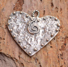 Journey of Life Artisan Sterling Silver Heart Pendant, H-624