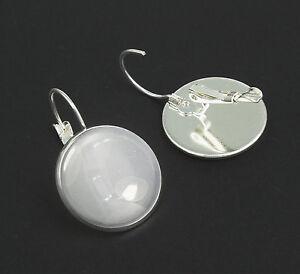 10 Lever Back Earrings 20mm Bezel with optional Glass - Ships from AUSTRALIA